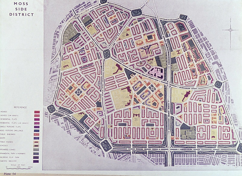 Moss Side District plan, 1945